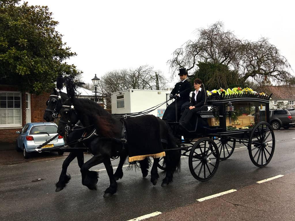 horse drawn hearse carriage ashington