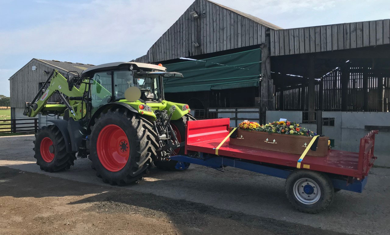 Tractor for Bespoke Funerals in Ashington